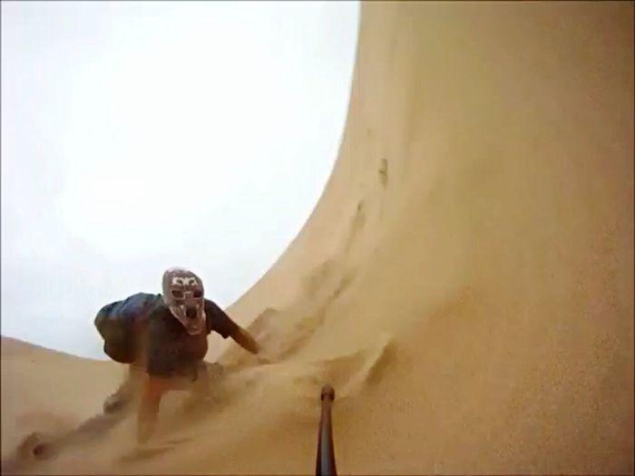 Sandboaring Sandman Goproshot Gopro Centralcoast Dunes Slam Wipeout OpenEdit EyeEm Gallery