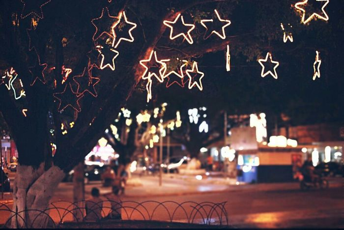 Christmastime Christmas Lights Stars Photography Nightphotography First Eyeem Photo Urban Nightcity Teofilo Otoni Night Photography Christmas Decorations Christmas Time