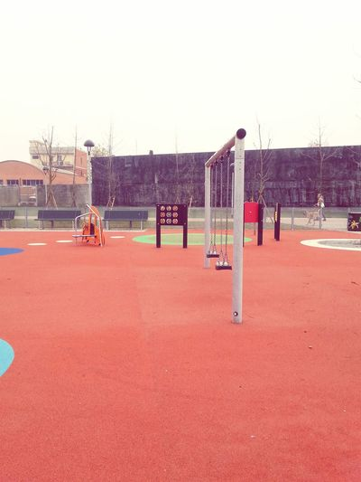 Empty playground Lonely Cityscapes Cityscape City Life Playground Swing Kindergarten Outdoor Photography Outdoors Outside Outdoor Activity Outdoor Games Bad Weather