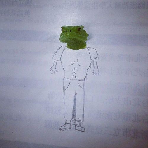 哈哈同學的蜥蜴怪人