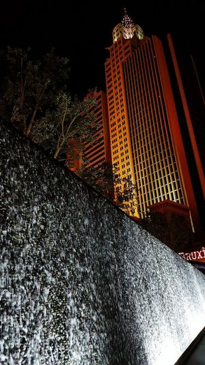 Las Vegas January 2017 Architecture Night City Illuminated Low Angle View Skyscraper Travel Destinations No People Built Structure Building Exterior Modern Nightlife Outdoors Sky