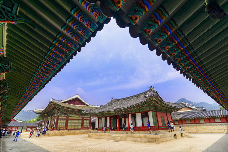 temple of heaven Built Structure Architecture Sky Building Exterior Belief Building Place Of Worship Religion Roof Day Spirituality Nature Incidental People Cloud - Sky Travel Travel Destinations Low Angle View Outdoors Architectural Column