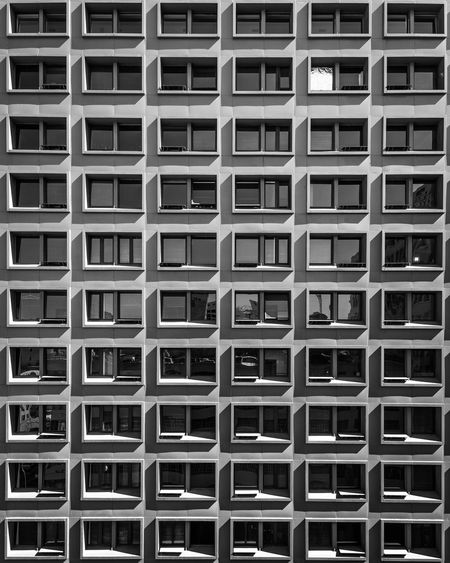Backgrounds Pattern Full Frame Building Exterior Architecture Built Structure No People City Life Fineart Reflection Reflection Off Window Windows Window Scenics Escape EyeEm Gallery Unique Perspectives Urban Modern EyeEm Best Shots EyeEm City Repetition Blackandwhite Business