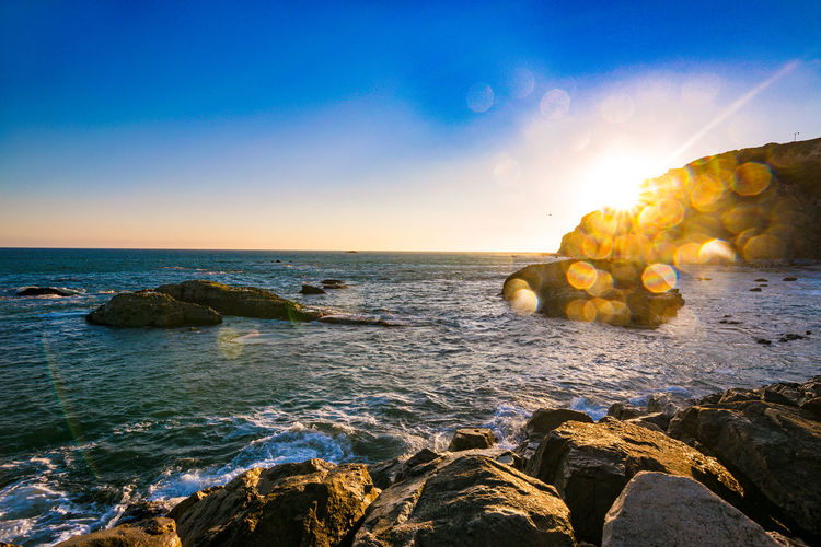 Sunset at Dana Point Beach Photography Sunset_collection Beauty In Nature Day Golden Hour Horizon Over Water Nature No People Outdoors Rock - Object Scenics Sea Sky Sunset Tranquil Scene Tranquility Water The Week On EyeEm California Dreamin