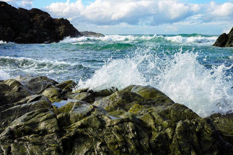 Water Motion Beauty In Nature Nature Splashing Sea Scenics Cloud - Sky No People Wave Outdoors Sky Day Power In Nature Beach Freshness Australia Port Macquarie Seashore Seaside Pacific Ocean Shore Shoreline Sigma DP2 Merrill