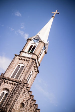 Church Gramado, Brazil Architecture Building Exterior Built Structure Day Low Angle View No People Outdoors Place Of Worship Religion Sky Spirituality