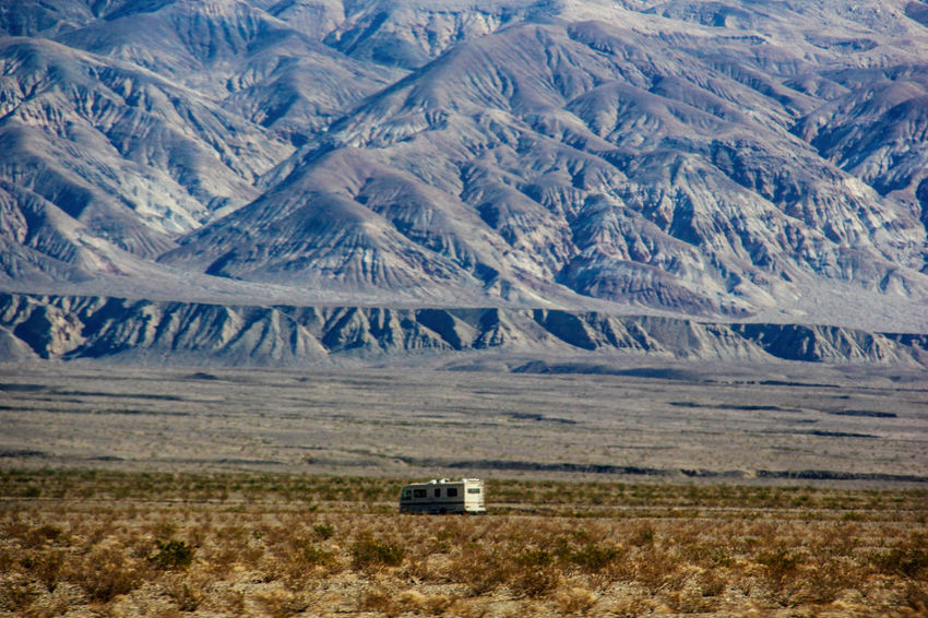 Empty Road Landscape Lone Camper Van Nature No Traffic Outdoors Rocky Mountains Rural Scene Scenics Travelling Home For The Holidays