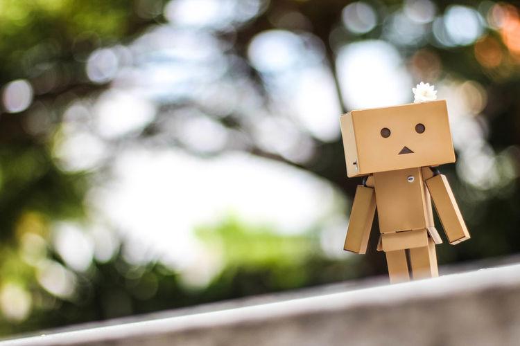 Robot made of cardboard