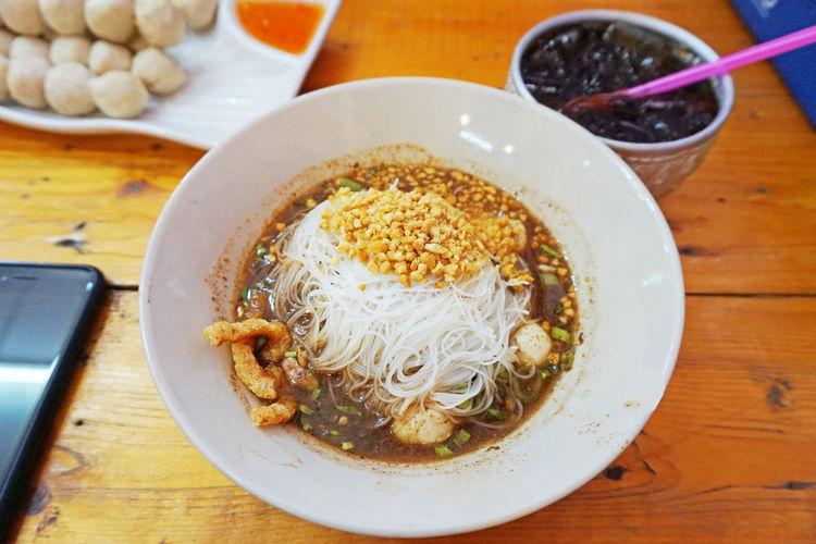 pork noodles in