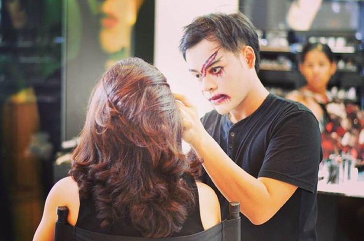 Halloween Makeup Hairdresser Hair Makeupartist Facemask Zombie Style Stylish Woman Women Mall Hairshopfrisor