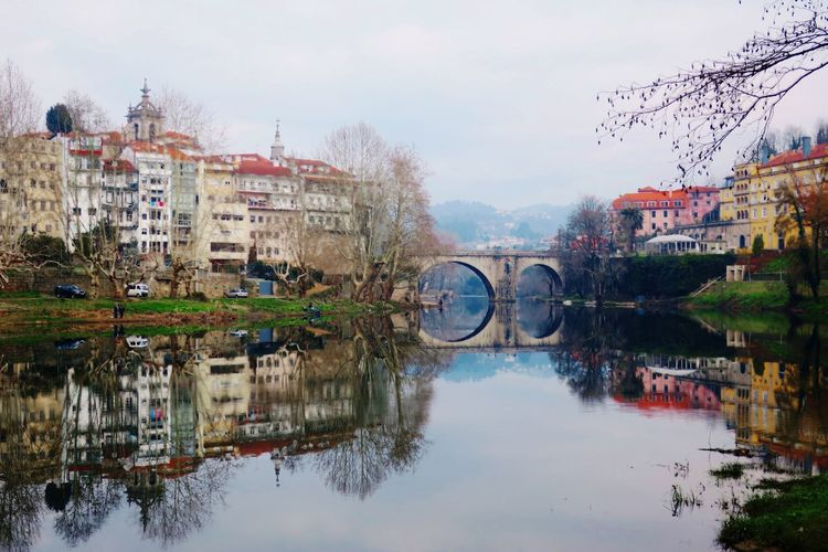 Colors Portugal Canonphotography Photography Architecture Built Structure Building Exterior Reflection Water Sky Shades Of Winter Outdoors Day Waterfront Tree Nature City