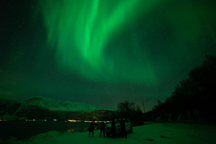 Aurora Hunting in Norway Kp-index Northern Lights Polar Lights Astronomy Beauty In Nature Cold Temperature Geomagnetic Storm Green Color Idyllic Illuminated Land Majestic Nature Night Non-urban Scene Outdoors Scenics - Nature Sky Snow Space Star - Space Tranquil Scene Tranquility Winter Zulkefli