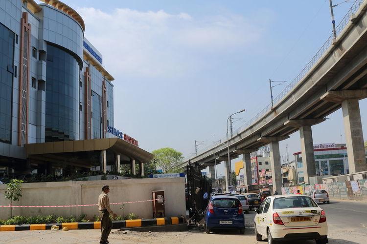 70d A View Of C Chennai Cityscape Photography India Metro Rail Bridge Paulvadivu SRM Hospital,Vadapalani