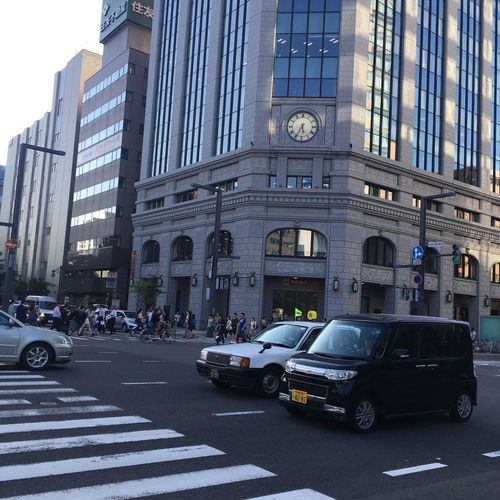 Odori Park Hokkaido Travel Architecture Car Transportation Mode Of Transport Land Vehicle Street City Built Structure Day Building Exterior Road Outdoors Sky No People