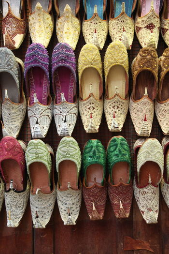 Shoes for sale in market