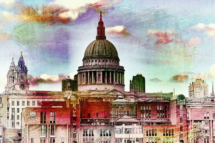 Edited My Way Edit Art, Drawing, Creativity St Pauls Cathedral Thames Skyline London Skyline Building Exterior Pattern, Texture, Shape And Form Architecture Photography Duomo Built Structure Building Blocks Colours Architecture City Close-up Scenics River Art ArtWork Thames River Side Thames EyeEm LOST IN London3XSPUnity EyeEm Best Edits