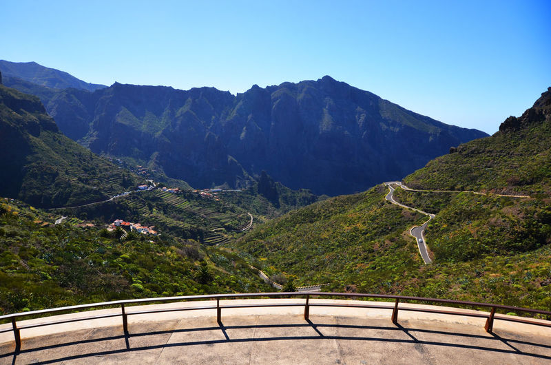Looking down on Masca Valley on Tenrife Beauty In Nature Dangerous Road Landscape Majestic Masca Masca Valley Mountain Mountain Range Nature No People Non-urban Scene Outdoors Remote Sky Tenerife Tranquil Scene Tranquility Valley