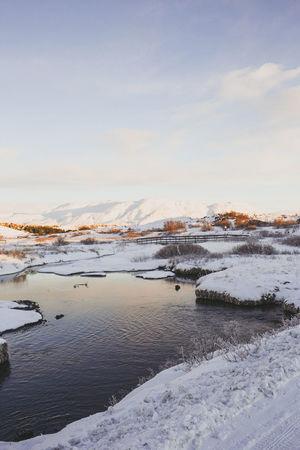 Land of Ice Agameoftones Amazing Lookslikefilm Photographysouls Photographyislife Tones Feature Mood Emeyebestshot EmEyeNewHere Emeyebestpics EmEyeNewPhoto Iceland Reykjavik Sunset Landscape Snow Outdoors Nature Water Sky