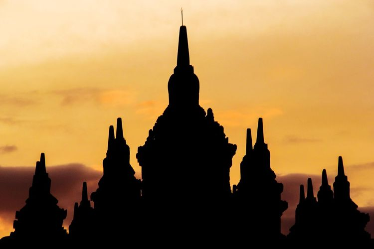 Landscape Tample Sky Sunset Sunset Statue Beauty Sculpture Place Of Worship Urban Skyline Gold Silhouette Arrival
