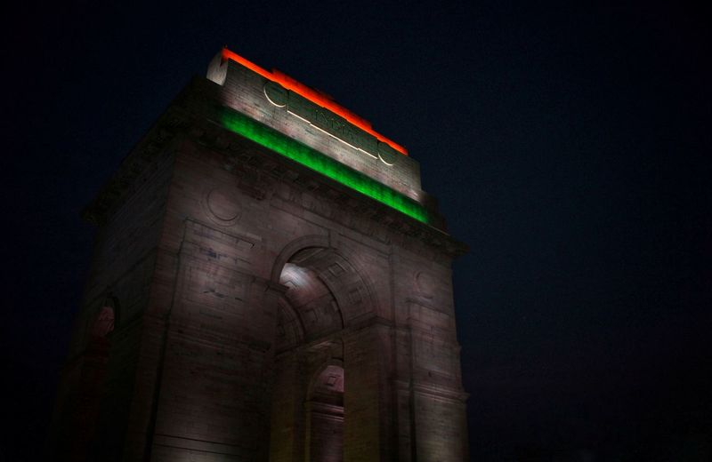 Nightphotography Flag Colours Indiagate City Illuminated History Architecture Built Structure Building Exterior