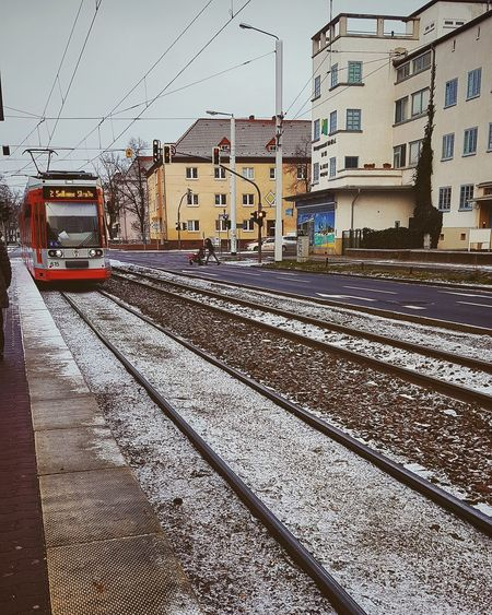 Tram station #railroad #Germany , #railwayarchitecture #photography #colddays #shootingday #Halle #snow #winter #snowday #shooting #streetphotography #Capture The Moment #naturelove #ColdWEATHER  #Nature  #germany Railroad Track Built Structure
