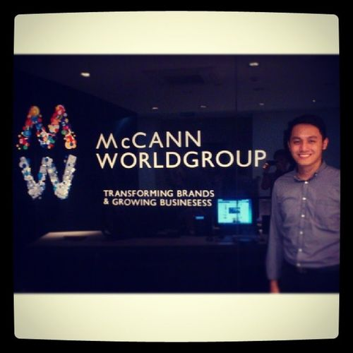 With my dream ad agency. :) McCannWorldgroup Day3 Markprof Advertising StrategicPlanner @MarkProfTop25