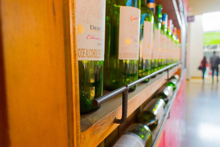 Estante de vinos Botella Botellas Botellas De Vino Cava Estante Licor Madera Verde Vidrio Vino