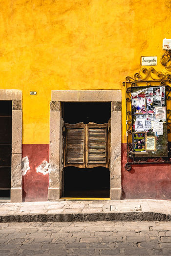 Paint The Town Yellow Architecture Building Exterior Built Structure Day No People Outdoors