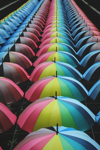 In A Row Large Group Of Objects Day Multi Colored Outdoors Colors Rainbow Colors Umbrellas EyeEm EyeEmNewHere EyeEm Malaysia Empiredamansara
