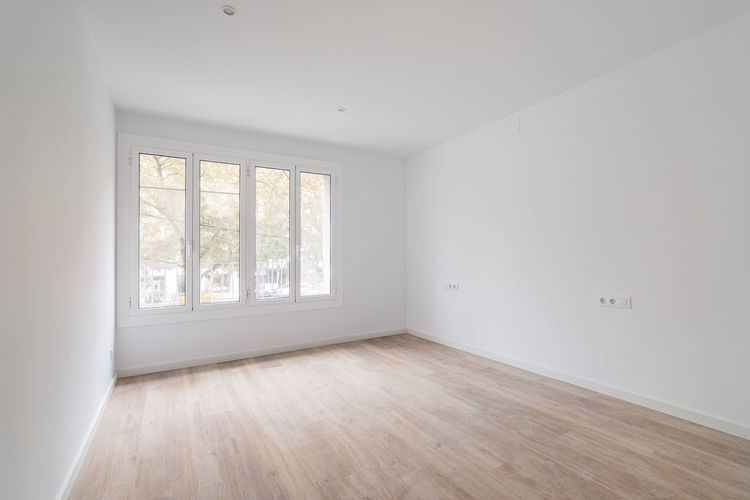 Empty wooden floor at home