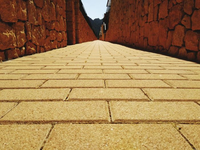 Paving path goes into the distance