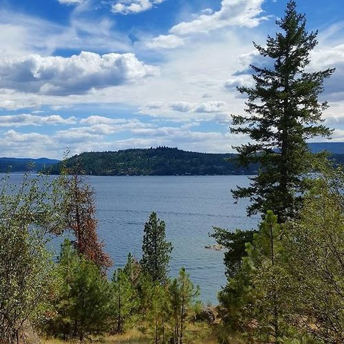 Beautiful view of LakeCoeurdalene from the top of TubbsHill today while Shooting this view never gets old ToesInTheSandProductions WeekendGetaways Northwest Upperleftusa