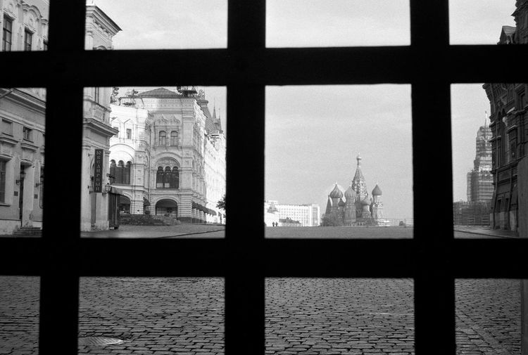Gitter Kremel Moscow Roter Platz Black And White Blackandwhite Outdoors Russland