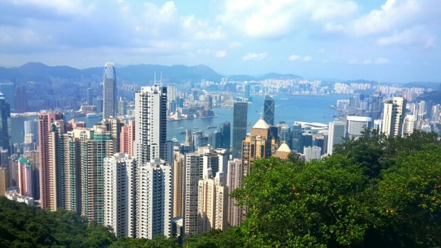 俯瞰香港-----2015-7-14于太平山顶 HongKong Travel Holiday View