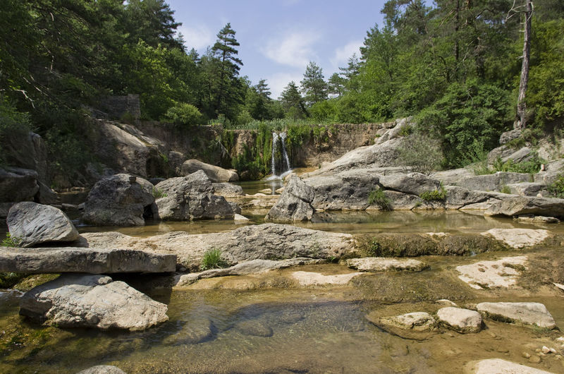 Beauty In Nature Beauty In Nature Forest Landscape Nature No People Outdoors Refugi Puigcercos Riera De Merles River Scenics Sky Summer Tranquil Scene Tranquility Water Waterfall