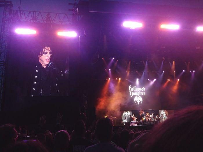 Hollywoodvampires Alicecooper Herborn Germany Concert Johnnydepp