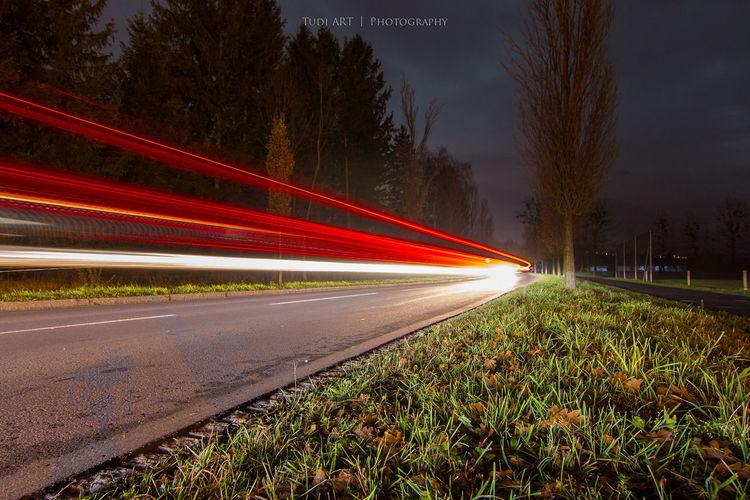 time exposure 2014 Autolichter Bad Ragaz Langzeitbelichtung Lichter Lights Longexposure Nacht Nachtfotografie Night Nightscape Road Schweiz Straße Straße Switzerland