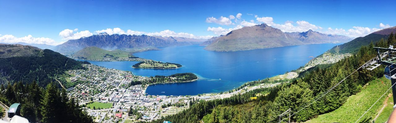 Queenstown Water Beauty In Nature Nature Scenics Blue Mountain Tranquil Scene Idyllic Tranquility Tree Sky Sea Growth Outdoors Day No People Travel Destinations