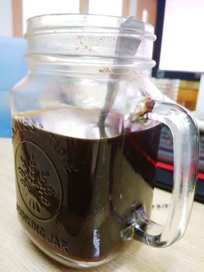 Black coffee Drink Close-up Food And Drink Freshness Indoors  Jar Refreshment No People Day