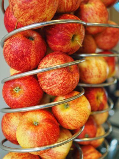 Full frame shot of apples in market