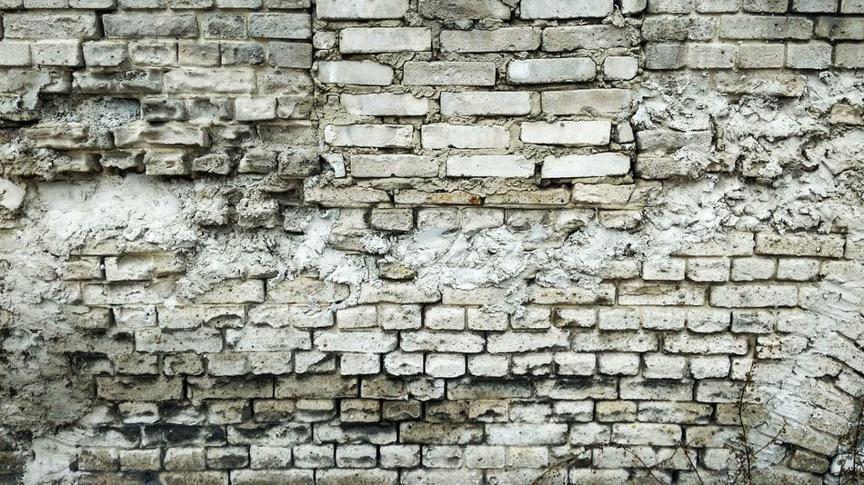 EyeEm Gallery Brick Brick Wall Background Bricks White Bricks Brick Building Brickwall Bricks Wall Cement Cement Wall EyeEm Best Shots Wall Wall - Building Feature Full Frame Backgrounds Textured  Pattern Day No People Outdoors Close-up Brick Wall Built Structure The Graphic City