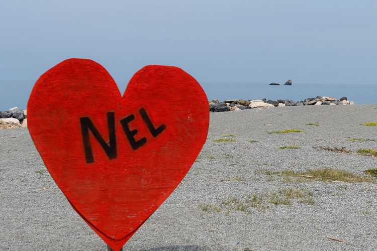 Nel cuore .... Positive Emotion Love Heart Shape Emotion Communication Red Text Outdoors Sky No People Land Western Script