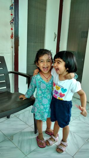Soul sisters Gauri and nivedita (our granddaughters) First Eyeem Photo