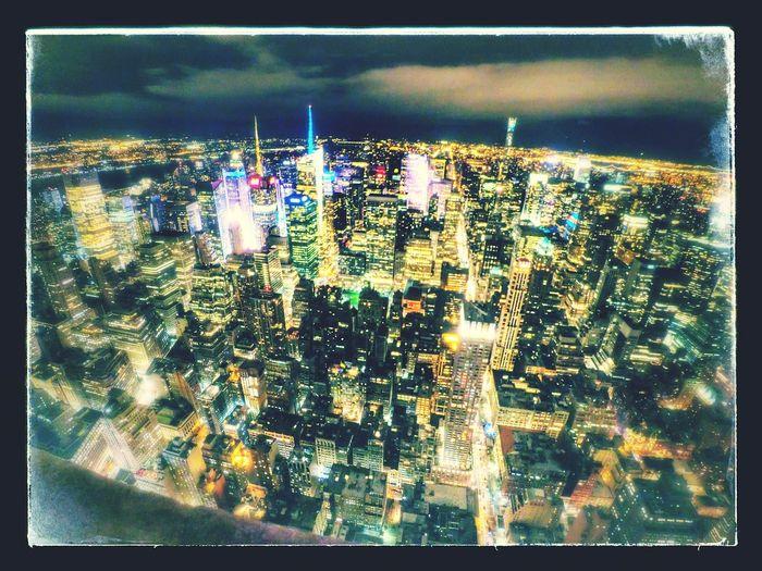 Embrace Urban Life City Night New York City Illuminated