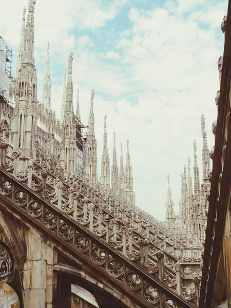History Through The Lens  Up On The Roof Sunlight And Shadow Architecture Architectural Detail At Duomo Di Milano