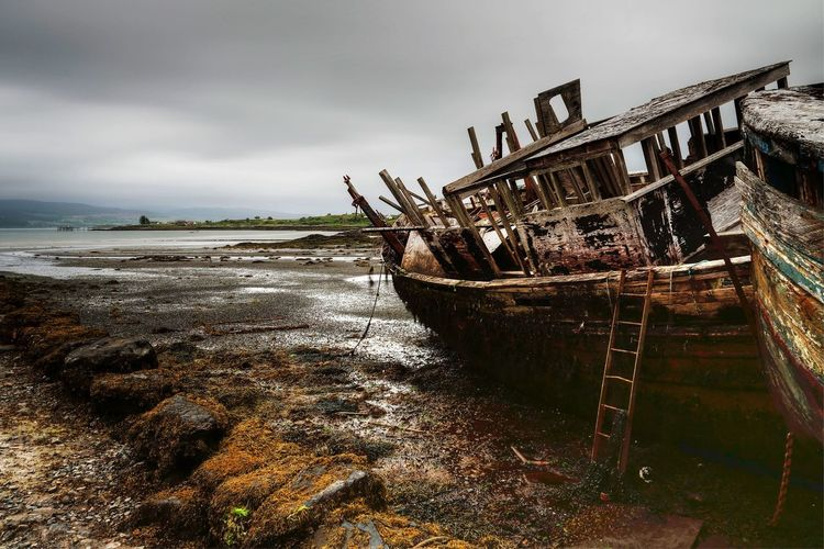 Last harbour Salen Shipwrecks Isle of Mull