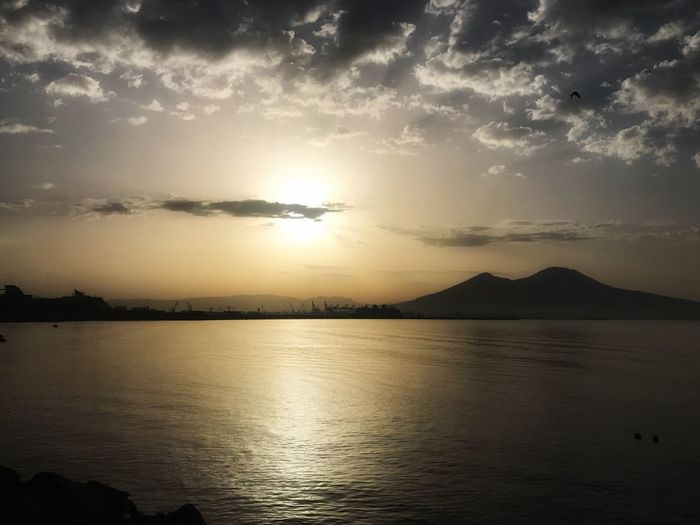 Landscape of Naples, Italy Sunset Vesuvio Napoli Water Sky Scenics - Nature Beauty In Nature Tranquility Tranquil Scene Sunset