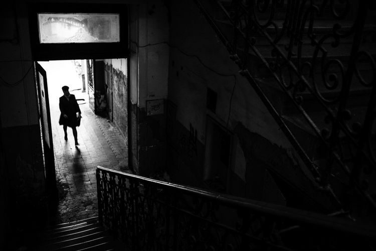 Stairway Day Full Length One Person Real People Stairs Stairway The Street Photographer - 2017 EyeEm Awards Walking Walking Around Woman Adventures In The City The Street Photographer - 2018 EyeEm Awards International Women's Day 2019