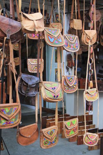 Purses for sale at market