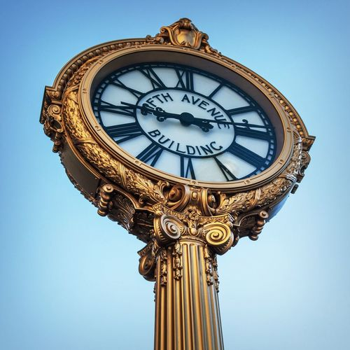 Famous clock at Herald Square, New York City Clock Famous Place Herald Square Iconic Manhattan New York New York City Travel Destination